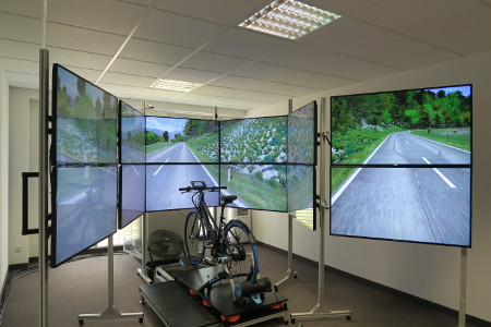 WIVW bicycle simulator - opened up